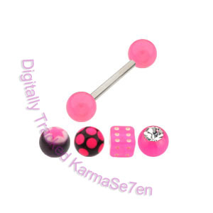 Tongue Stud Revolution Pack - Mixed Pink Accessories