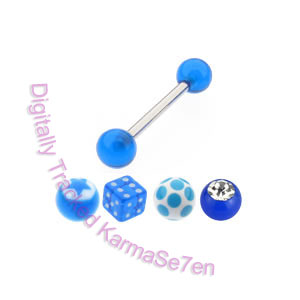 Tongue Stud Revolution Pack - Mixed Blue Accessories