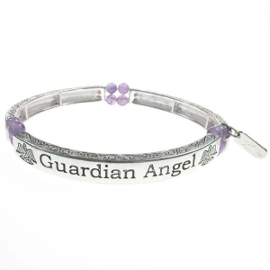 Amethyst Sentiment Bracelet - Guardian Angel