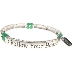 Jade Sentiment Bracelet - Follow Your Heart
