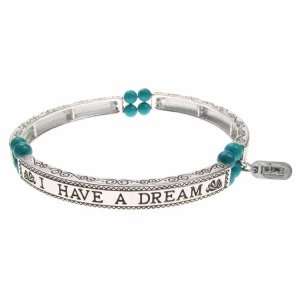 Turquoise Sentiment Bracelet - I Have a Dream