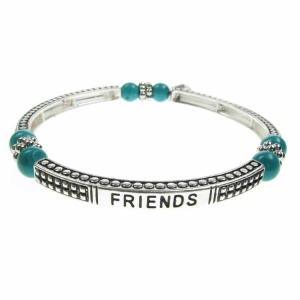 Turquoise Sentiment Bracelet - Friends