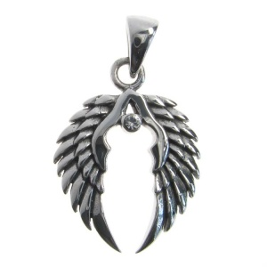 Angel Wings and CZ Pendant