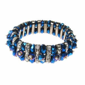 Blue Crystal and Diamante Bracelet
