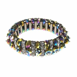 Rainbow Crystal and Diamante Bracelet