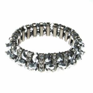 Silver Crystal and Diamonte Bracelet