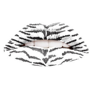 White Tiger Temporary Lip Tattoos by Passion Lips