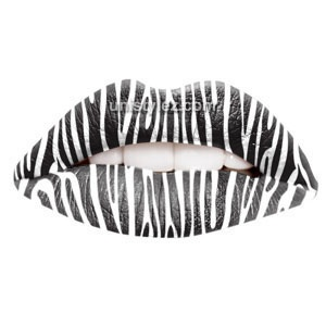 Zebra Style Temporary Lip Tattoos by Passion Lips