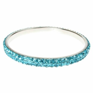 Turquoise Crystal Bangle - Two Rows