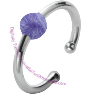 Lilac Ball Fake BCR Piercing