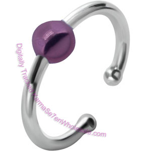 Purple Ball Fake BCR Piercing