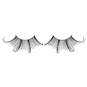 Black False Eyelashes Extra Long