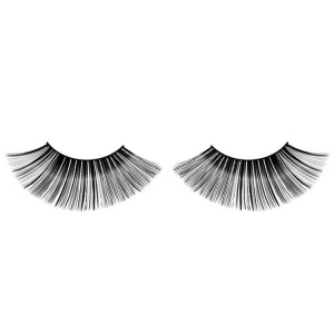 Black False Eyelashes Flared Long