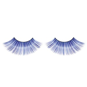 Blue Glitter False Eyelashes Flared Long