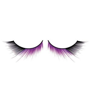 Black and Purple False Eyelashes Long Deluxe