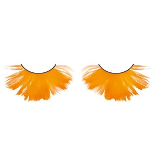 Orange Feather False Eyelashes Full Flared