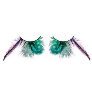 Green Spotted Feather False Eyelashes