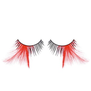 Black with Red Feather False Eyelashes