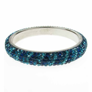 Sea Blue Crystal Bangle