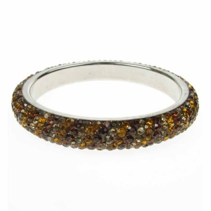 Earth Brown Crystal Bangle