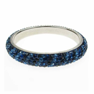 Saphire Blues Crystal Bangle