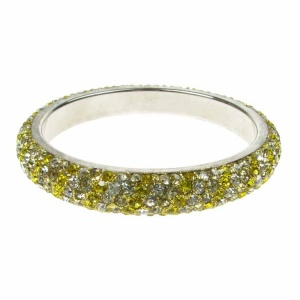 Golden Yellow Crystal Bangle