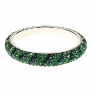 Emerald Green Crystal Bangle