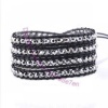 Four Row Beaded Wrap Bracelet - Silver Glimmer