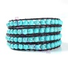 Four Row Beaded Wrap Bracelet - Turquoise