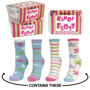 Oddsocks Kandy Floss Designs 4 Sock Pack