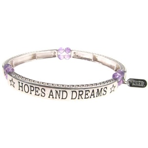 Amethyst Sentiment Bracelet - Hopes and Dreams