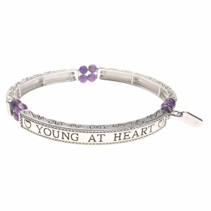 Amethyst Sentiment Bracelet - Young at Heart