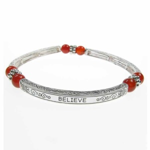 Agate Sentiment Bracelet - Believe