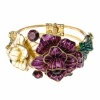 Purple and Gold Flower Cuff