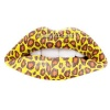 Cheetah Style Temporary Lip Tattoos by Passion Lips