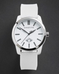 Amazuna Bonete Watch - White + Grey - 44mm